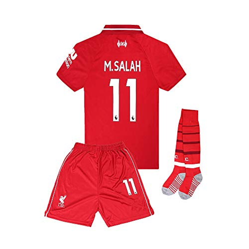 f18670869 18 19 Season Liverpool  11 M Salah Kids Youth Home Soccer Jersey Red  (9-10Years Size 24)