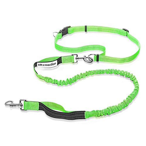K9KONNECTION Hands Free Dog Rope Leash for Running & Walking | Durable Dual Handle & Visible Reflective Stitching...