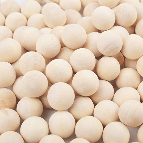 Small Wooden Balls - Jdesun 200 Pieces Unfinished Wooden Balls, Mini Round Craft Balls for DIY Projects, Kids Arts and Craft Supplies, 0.4 Inches Diameter