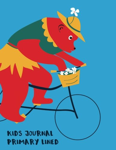 Read Online Kids Journal Primary Lined: Creative Writing Kids Cycling Bear Journal (8.5 x 11) , Cute Bear on Bike Notebook for Kids ebook