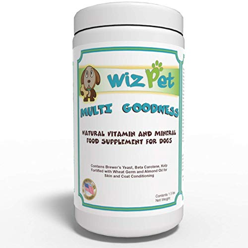 WizPet Homemade Dog Food Supplement Powder ~ Easy to Use Dog Vitamins for Healthy Skin, Coat, Hips and Joints ~ Add to Any Food ~ for Senior & Adult - Dog Vitamins Powder