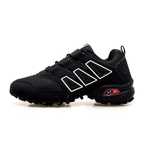 Low De top Hommes Noir Chic Sneakers Outdoor Course Confortable Sport Chaussures À Escalade Fonctionnement Randonnée Pour Lacets YqdpXxC