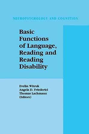 Amazon Com Basic Functions Of Language Reading And border=