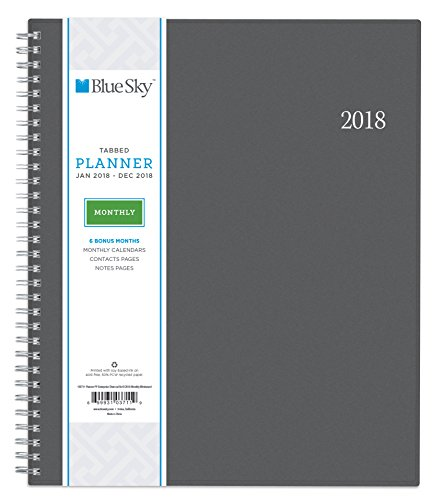 Blue Sky 2018 Monthly Planner, Twin-Wire Binding, 8