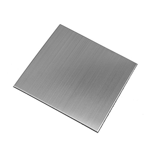 Ver Block Peel and Stick Design Stainless Steel DIY Interior Tile 20PCS (3.9 x 3.9 inch (20PCS), Brush Grey)