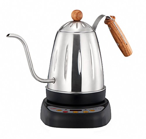 Diguo Variable Temperature Digital Electric Gooseneck Kettle, Pour Over Coffee Kettle Hand Drip Kettle Narrow Spout Premium Stainless Steel Gooseneck Tea Kettle, DG-18 (Sliver)