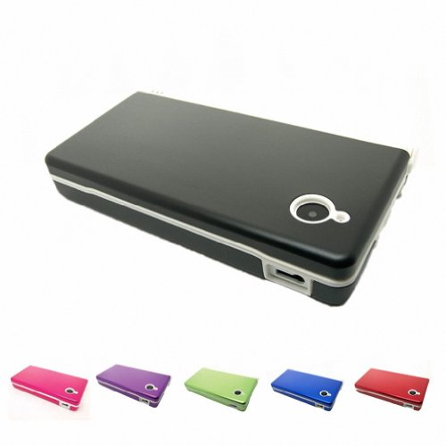 BLACK Nintendo DSi NDS i NDSI Aluminum Metal Case Skin Protector Cover + Free Screen Protectors (Many Colors Available)