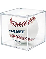 kanee Baseball Display Case, Clear Acrylic Cube Box for Storage Memorable Baseball, UV Protected Baseball Display Showcase for Sports Collectibles Autograph Ball Square 3.1'' Fit for Official Size