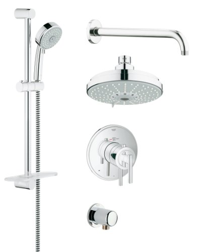 - Grohe 35056000 GrohFlex Timeless THM Shower Set with Shower head and Hand shower