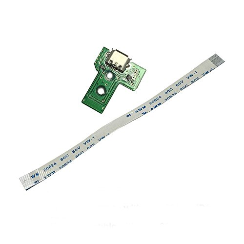 Gametown USB Charging Port Socket Board JDS-030 with 12 Pin Flex Ribbon Cable for Sony PS4 3rd Gen - Cable Board Usb
