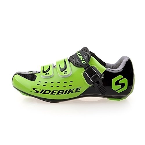 KUKOME Mountain Bike Road Cycling Shoes Men Women 001-Road Black Green uUKj07VHH