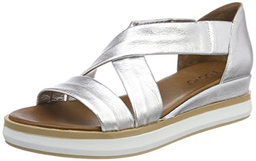 Inuovo 8956, Sandales Bout Ouvert Femme Argent