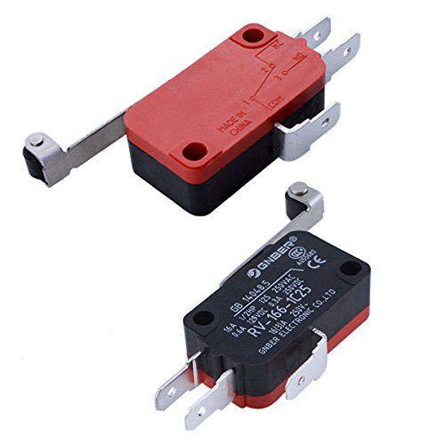 (URBEST 2Pcs Micro Limit Switch SPDT Snap Action Push Button Design CNC LOT with Long Hinge Lever)