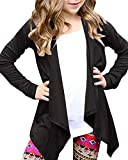 KunLunMen Girls Open Front Lightweight Cardigan Long Sleeve Wrap Swing Cover up