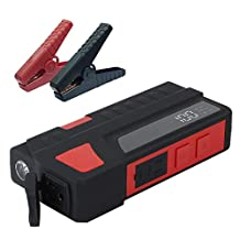 AOXIN Emergency Power Bank, 20000mAh AC 100-120V/85Watts Portable AC Outlet Charger Battery Pack with Dual USB Port for Small Appliances, Auto Battery Booster Car Jump Starter