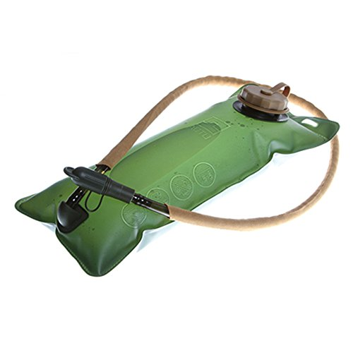 EverTrust(TM) 1.5L Portable Thickening EVA Hydration Water Bladder Bag for Sports Cycling Bicycle Bike Hiking Camping Climbing-Army Green by EverTrust