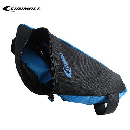 SUNMALL Mini Bike Bicycle Commuting Bag Storage Bag,Removable Frame Triangle Bike Bag,Black and Blue Bike tool kit Bag for kids Men Women (6 Months Warranty)