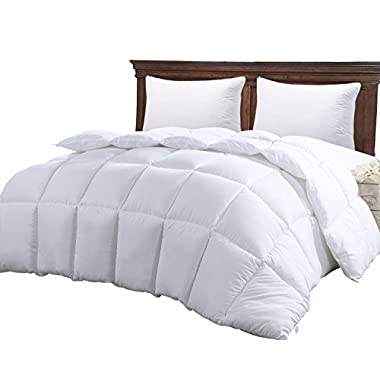 King Comforter Duvet Insert White - Hypoallergenic, Plush Siliconized Fiberfill, Box Stitched, Down Alternative Comforter, Protects Against Dust Mites and Allergens by Utopia Bedding