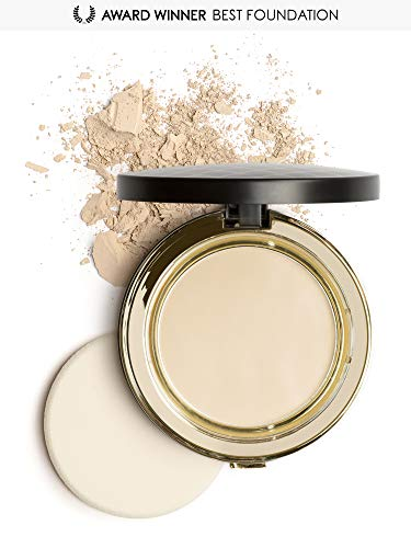 Mirenesse Skin Clone Mineral Powder Foundation SPF15, 4-in-1 Flawless Skin Serum High Coverage Matte Finish Hydrating Silky Powder in Compact, Vegan & Toxin Free, 13 Vanilla 0.46oz