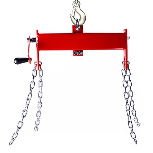 (OrionMotorTech 2 Ton (4000lbs) Engine Hoist/Shop Crane/Cherry Picker Load Leveler with Chains)