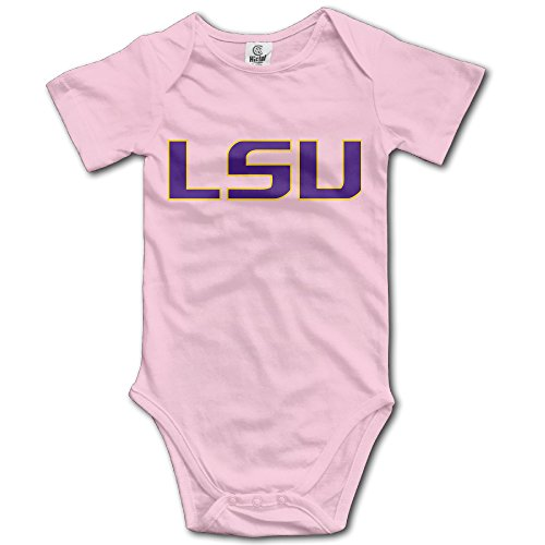 Price comparison product image OOKOO Baby's Louisiana State University LSU Bodysuits Pink 24 Months