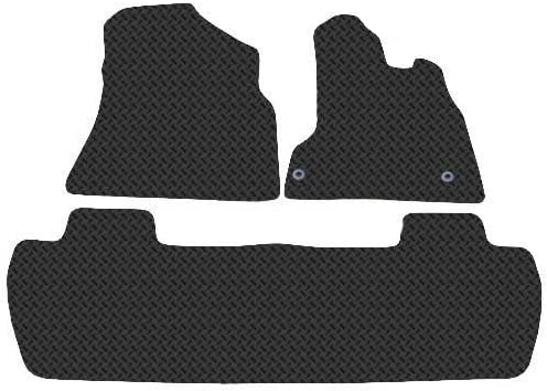 2008 Onwards Multispace Black Heavy Duty Rubber Boot Protection Mat Liner for Citroen Berlingo Trim for Secure Fit
