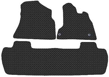 Black Connected Essentials 5022795 Tailored Custom Fit Rubber Car Mats Citroen Berlingo Multispace 1996-2008