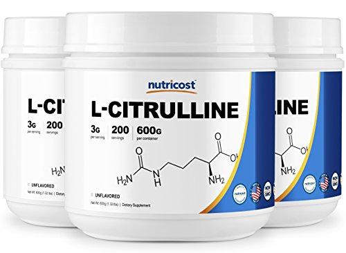 Cheap Nutricost Pure L-Citrulline (Base) Powder (600 Grams) (3 Bottles)