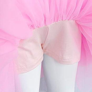 HOOLCHEAN Baby Girls Layered Tutu Skirt with Shorts Soft Tulle Skorts