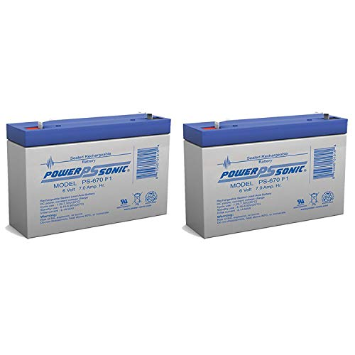 (6V 7Ah UPS Battery for Ivy Biomedical Systems 702 ECG MONITOR - 2 Pack)
