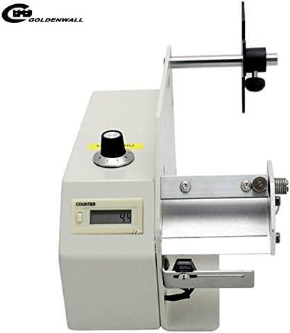 CGOLDENWALL AL-505S小型ラベル剥離機  自動カウント0-999999シールピーラー110V 4-70mm1-10から調整可能なディレイ・レンジ 工業用
