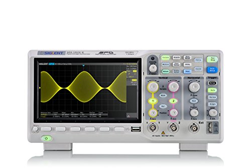 Siglent Technologies SDS1202X-E 200 mhz Digital Oscilloscope 2 Channels, Grey by Siglent Technologies