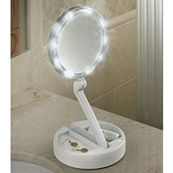 Amazon Com Emson My Foldaway Mirror The Lighted Double