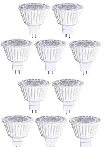 10 Pack Bioluz LED MR16 LED Bulb 50W Halogen Replacement Dimmable 7w 3000K 12v AC/DC UL Listed 12v Ac Halogen Lamps