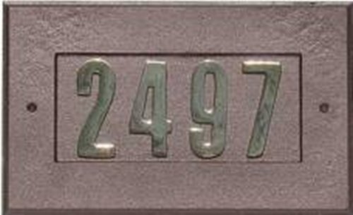 """QualArc ADD-1410-AC Manchester Address Plate w/3"""" gold brass numbers (n by Qualarc"""