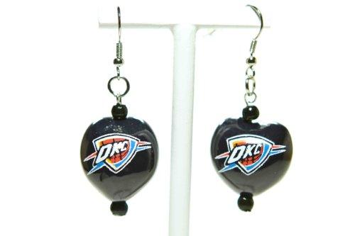 NBA Oklahoma City Thunder Go Nuts Kukui Nut Earrings by Style Pasifika