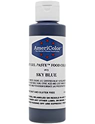 Americolor Soft Gel Paste Food Color, 4.5-Ounce, Sky Blue