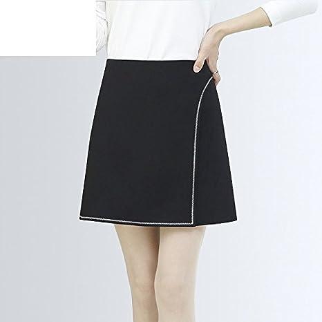 XiaoGao Una Palabra Falda, Falda Negra, Falda Mini,S: Amazon.es ...
