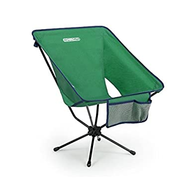 Compaclite Oversize Steel Camping Portable Chair for Outdoor Camping/Picnic/Hiking/Motorcycling/Bicycling/Fishing/Garden BBQ/Beach/Patio with Carry Bag, Hunter Green