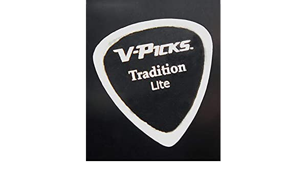 The Pick Billy Gibbons Plays V-PICKS Tradition Lite Ghost Rim