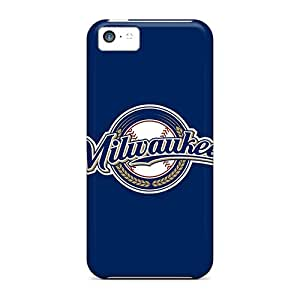 For Iphone 5c Fashion Design Baseball Milwaukee Brewers 2 Cases-hPp18233YImM