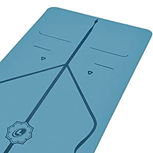 Liforme Original Yoga Mat – The World's Best Eco-Friendly, Non Slip Yoga Mat with The Original & Unique Alignment Marker System – Made with Natural Rubber – Biodegradable Yoga Mat