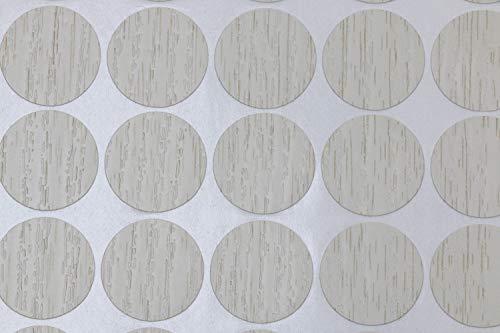 Mini Skater 1 Sheet/54Pcs 20mm Wooden Furniture Accessories Self Adhesive PVC Material Decoration Furniture Cabinet Screw Cap Covers Hole Stickers (Light Oak)