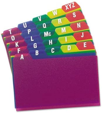 1//5 Tab 25//Set Alpha Card Guides Polypropylene Sold as 1 Set 3 x 5
