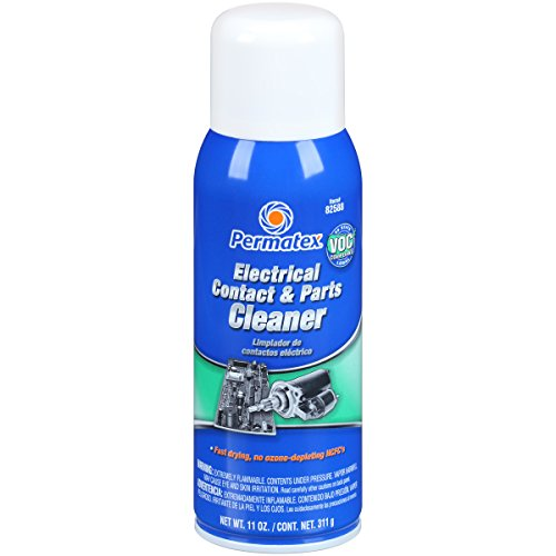 Permatex 82588-12PK Electrical Contact and Parts Cleaner - 11 oz., (Pack of 12) by Permatex