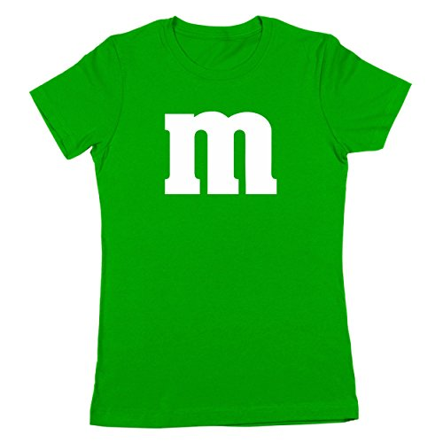 M Chocolate Candy Halloween Costume Outfit Funny Group Cool Party Womens Shirt Small Green