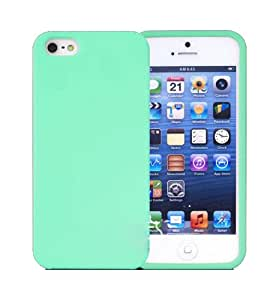 TPU Soft Full Green Case Cover For Iphone 4/4S/5/5S/5C 1043411-ip4