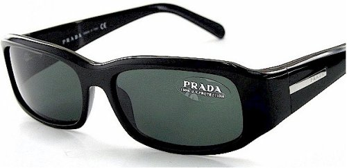 Amazon.com: Authentic Prada anteojos de sol spr03e Negro ...