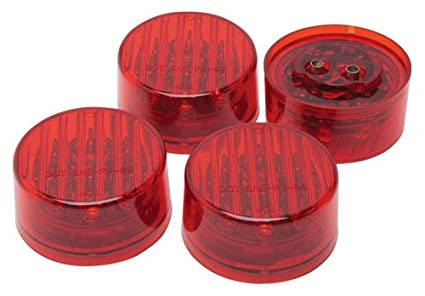RoadPro RP-1277R4P 2-Inch Red LED Round Sealed Light - 4 Pack