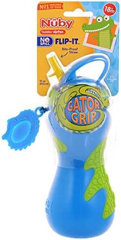 Nuby Plastic Gator Grip Toddler Sipeez Blue